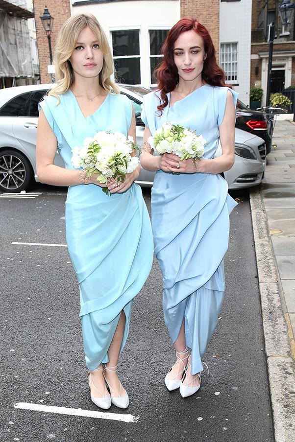 **Georgia May Jagger** <br><br> Georgia May Jagger and her sister Elizabeth played bridesmaid in Vivienne Westwood at the wedding of their mother, Jerry Hall, and Rupert Murdoch.