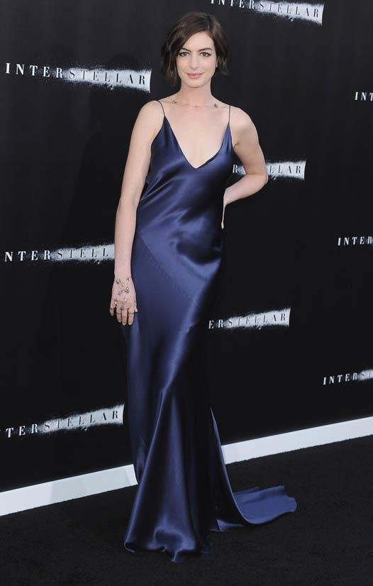 <strong>Anne Hathaway, October 2014</strong> <br><br> Los Angeles Premiere for <em>Interstellar</em>.