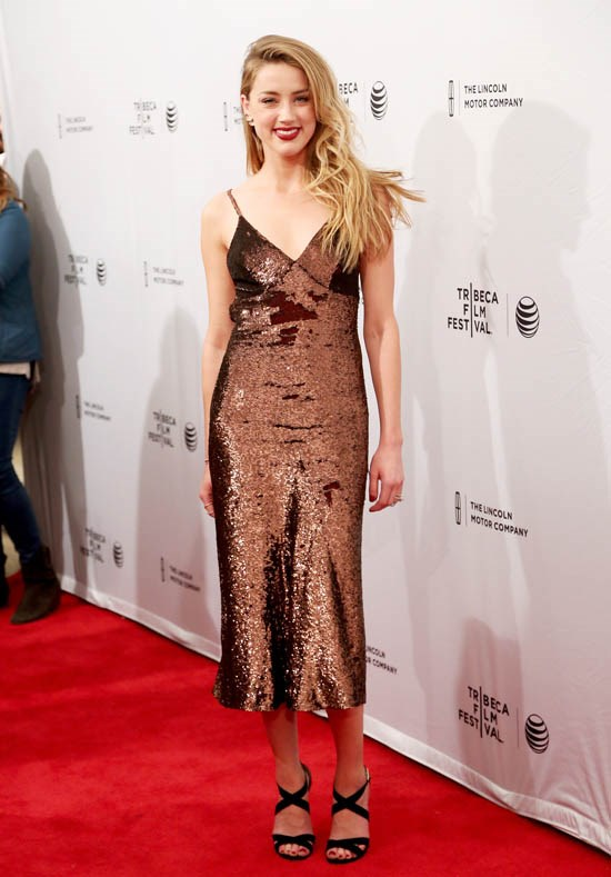 <strong>Amber Heard, April 2015</strong> <br><br> Premiere for <em>When I Live My Life Over Again</em> at the Tribeca Film Festival.
