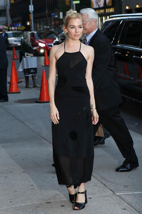 <strong>Sienna Miller, October 2015</strong> <br><br> The Late Show with Stephen Colbert.