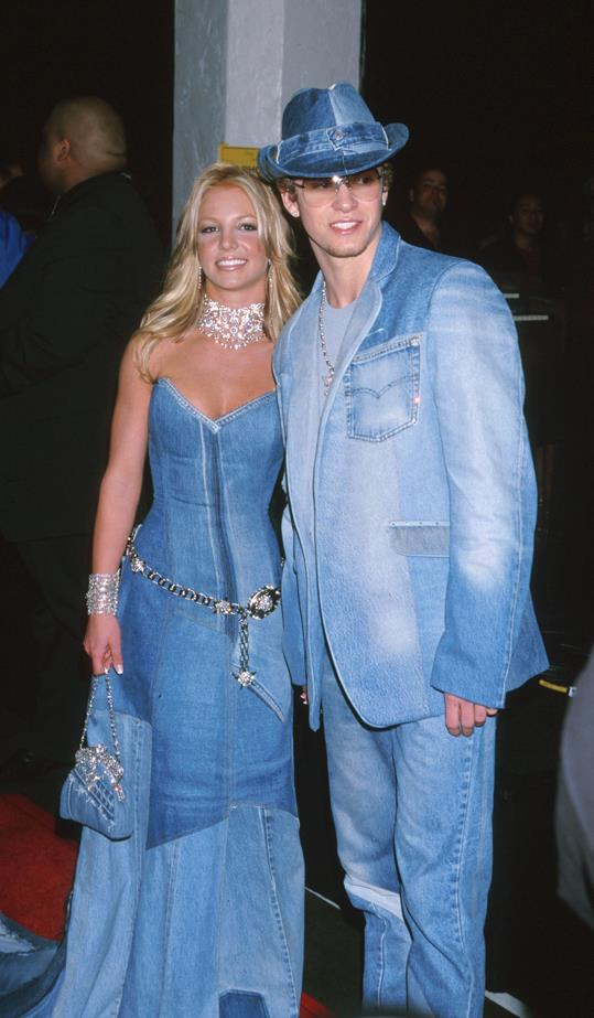 **Britney Spears and Justin Timberlake** <br><br> If you were to describe the '90s in one picture, some might picture Will Smith with a flat top and a jazzy sweater, some might choose the potent combo of a stretchy plastic choker and a pair of overalls, but us? We'd choose this picture.