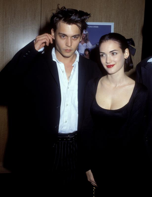 **Johnny Depp and Winona Ryder** <br><br> Johnny and Winona are still considered by many to be the ultimate '90s couple. They burned bright, got tattoos for each other, and waxed poetical in the tabloids. That's love.