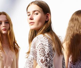 Models backstage at Chloe