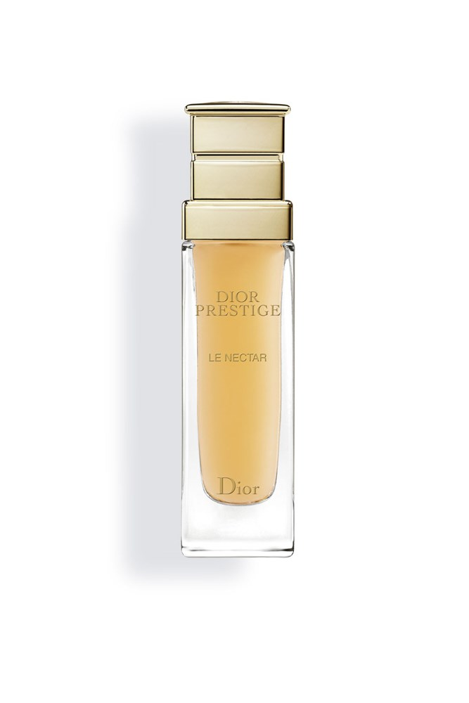 """<strong>Brooke Bickmore, workflow director</strong><BR> My MVPs for year-round great skin are equal winners from Elizabeth Arden, and Dior.<BR> <em>Prestige Le Nectar Serum, $495 for 30ml, Dior, <a href=""""http://www.dior.com/home/en_int"""">dior.com</a></em>"""