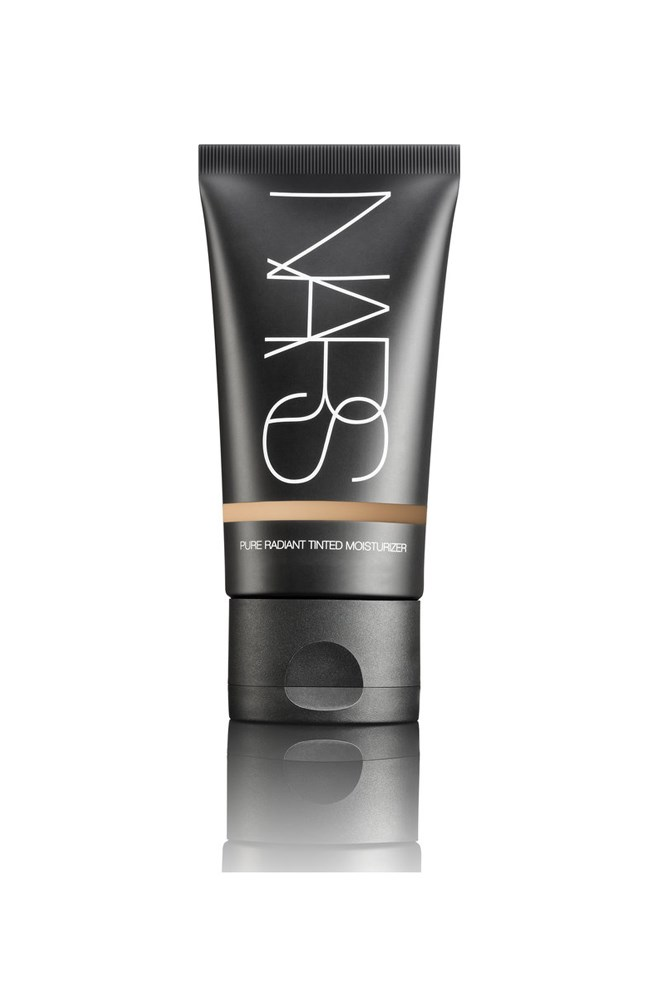 """<strong>Claudia Jukic, editorial and fashion news coordinator</strong><br> Every few months I'll try a new tinted moisturiser, my logic being that perhaps there's something even better out there. There's not. I always come back to Nars Pure Radiant for its smoothing, glow-enhancing ways.<br> <em>Pure Radiant Tinted Moisturiser, $70, Nars, <a href=""""http://mecca.com.au/nars/"""">mecca.com.au</a></em>"""