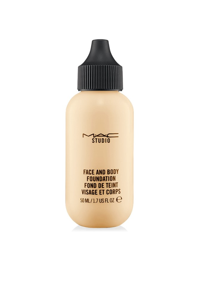 """<strong>Justine Cullen, editor-in-chief</strong><br> This foundation is worth its weight in liquid gold for giving me glowing, flawless skin no matter how little sleep I've had. It's the only thing I finish.<br> <em>Studio Face And Body Foundation, $49 for 50ml, MAC, <a href=""""http://www.maccosmetics.com.au/"""">maccosmetics.com.au</a></em>"""