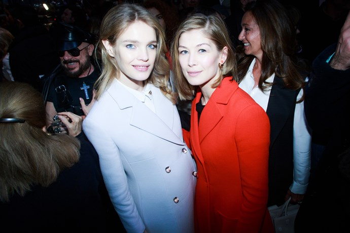 Natalia Vodianova and Rosamund Pike at Dior