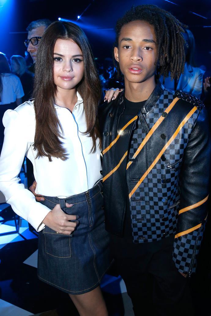 Selena Gomez and Jaden Smith at Louis Vuitton