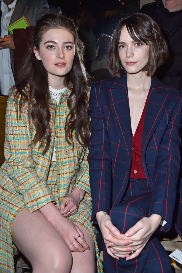 Millie Brady and Stacy Martin at Miu Miu