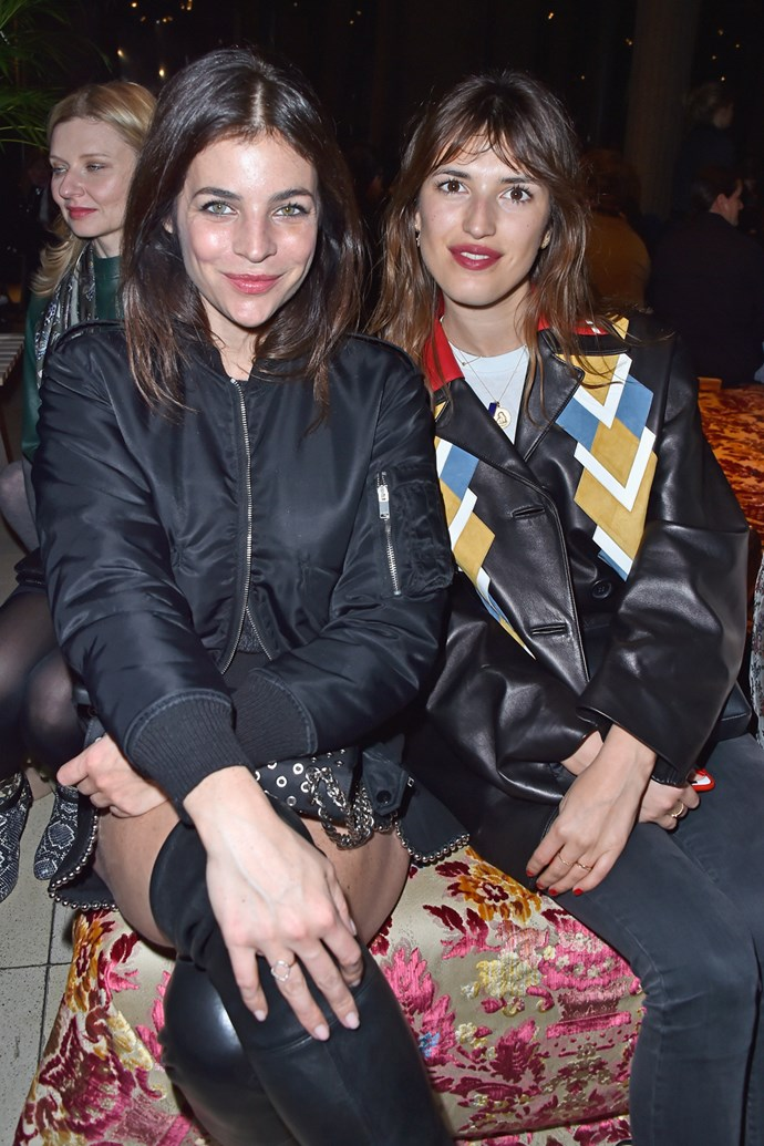 Julia Restoin Roitfeld and Jeanne Damas at Miu Miu