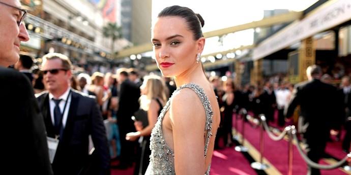 Daisy Ridley at the Oscars 2016.