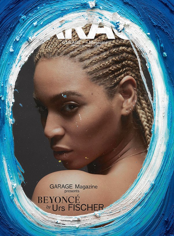 Beyonce on the cover of Garage Magazine.