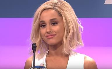 Ariana Grande Impersonates Jennifer Lawrence On 'Saturday Night Live'