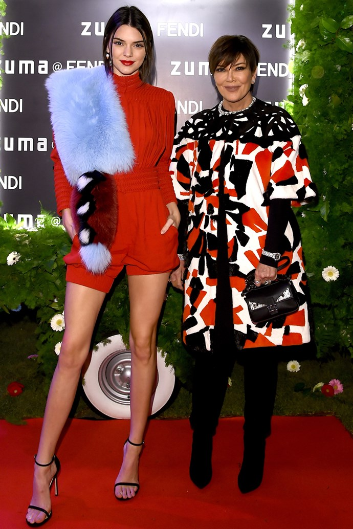 Kendall Jenner and Kris Jenner in Rome