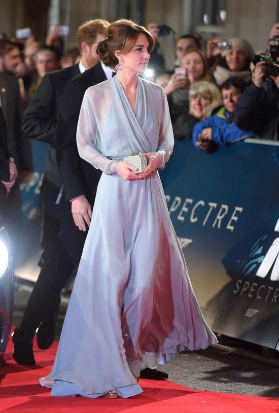 Wearing Jenny Packham in October 2015.