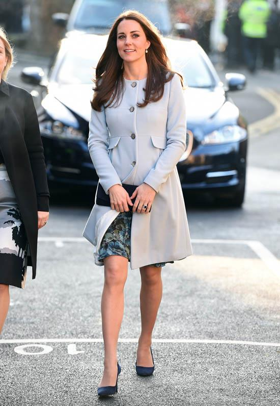 Wearing a Séraphine coat in January 2015.