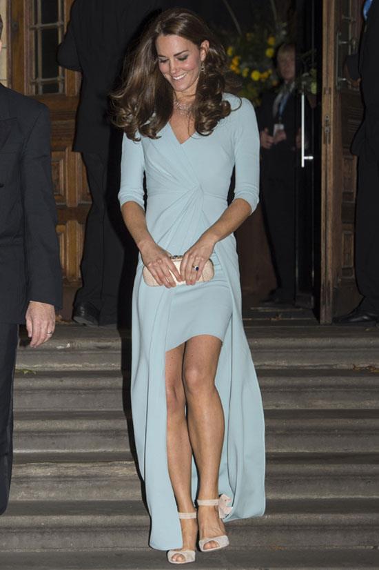 Wearing Jenny Packham in October 2014.