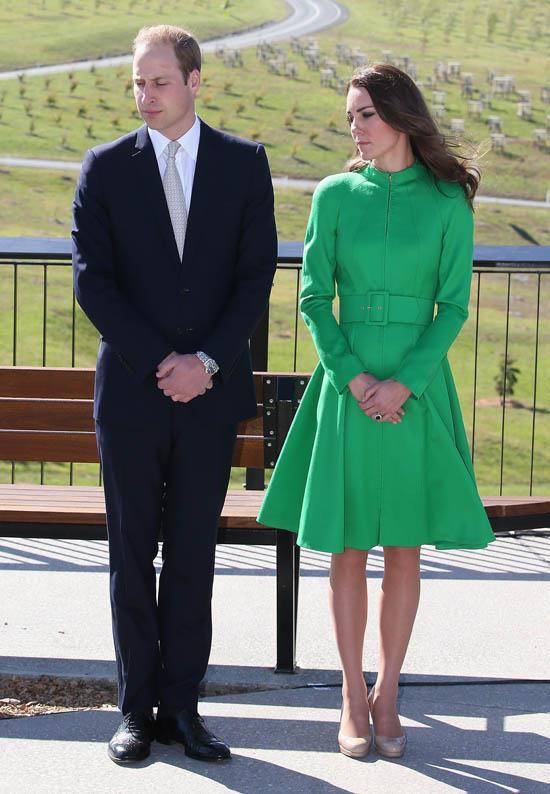Wearing Catherine Walker in April 2014.