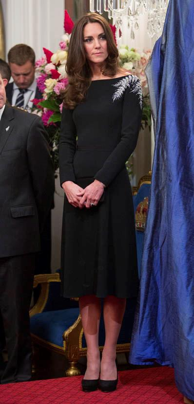 Wearing Jenny Packham in April 2014.