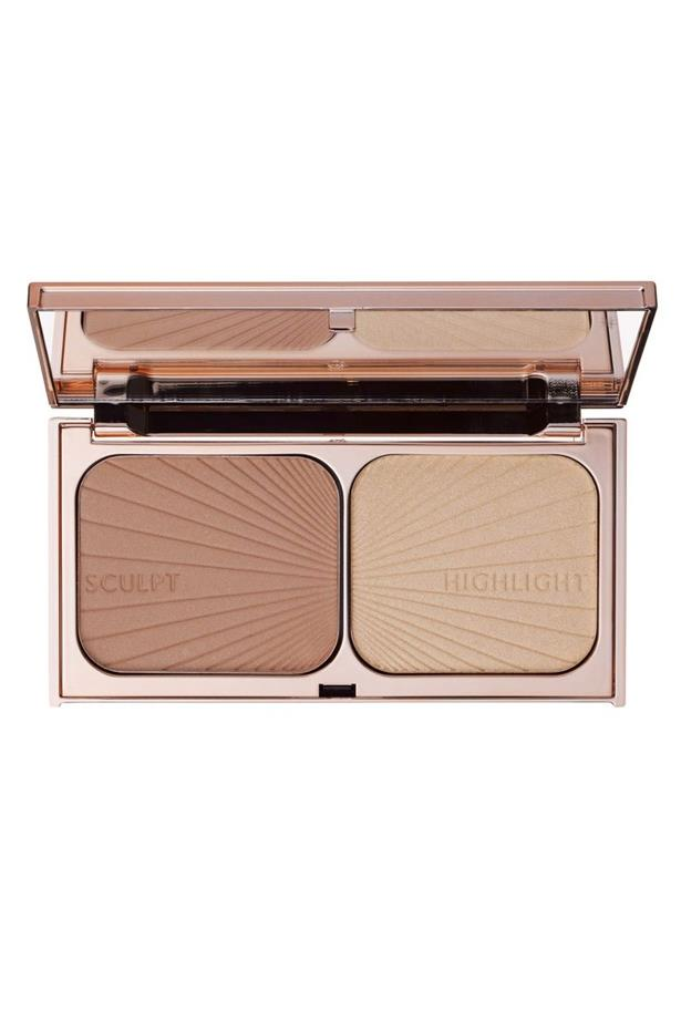 <p> The Highlighter: Charlotte Tilbury Filmstar Bronze & Glow. <p> <p> The rap: A two-in-one product that works as a bronzer, a contour palette, a highlighter and just about everything in between.<p>