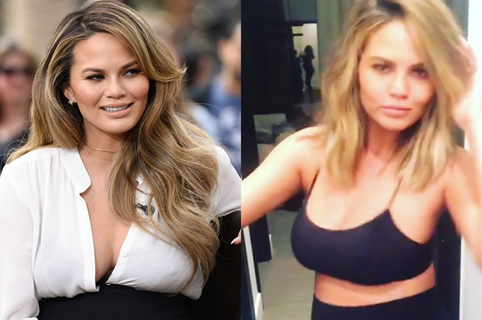 """<p> <strong>Chrissy Teigen</strong></p> <p> Chrissy Teigen revealed her new mum-to-be chop on Instagram, which she calls the """"Khloe-Rosie"""".<p> <p> """"New cut!! Asked for the khloe-rosie, side of chrissy khlosey and @jenatkinhair knew exactly what I meant,"""" she wrote."""