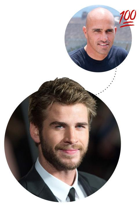 """<p> Liam Hemsworth <3s Kelly Slater<p> <p> """"Kelly Slater. He's a pro surfer still and has done amazing things for that sport and has won more world titles than anyone else. He is someone that I'm still just blown away by...He came to Phillip Island one time when we were maybe 14 or something. We were going to surf this break and we didn't end up surfing and that day Kelly Slater came out and surfed. My brother and I were so upset that we missed the opportunity to surf with literally our idol. I'm actually friends with him, but I don't think I've ever told him that story to his face."""""""
