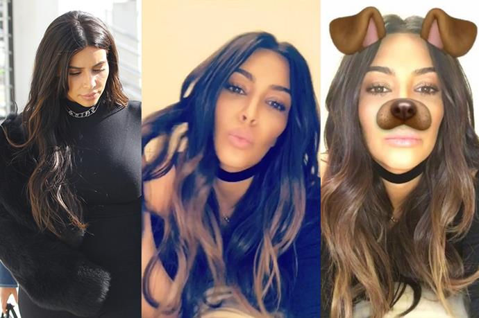 <p> <strong>Kim Kardashian</strong></p> <p>Kim Kardashian brought back the ombre balayage look after getting a midnight chop and change from her favorite hairstylist. </p>