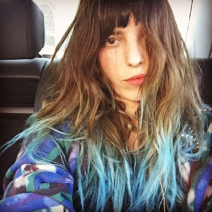 "Blue hair, don't care. <br><br> <a href=""http://www.instagram.com/loudoillon"">@loudoillon</a>"
