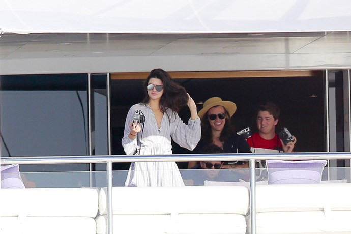 Kendall Jenner and Harry Styles on vacatin in St Barts.