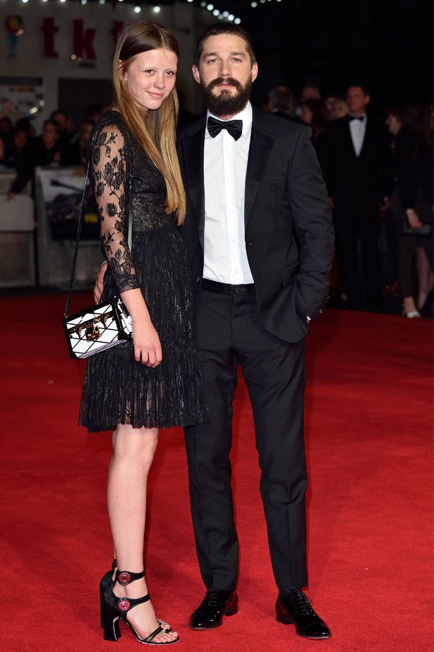 <strong>Shia LaBeouf and Mia Goth</strong> confirmed their engagement in March.