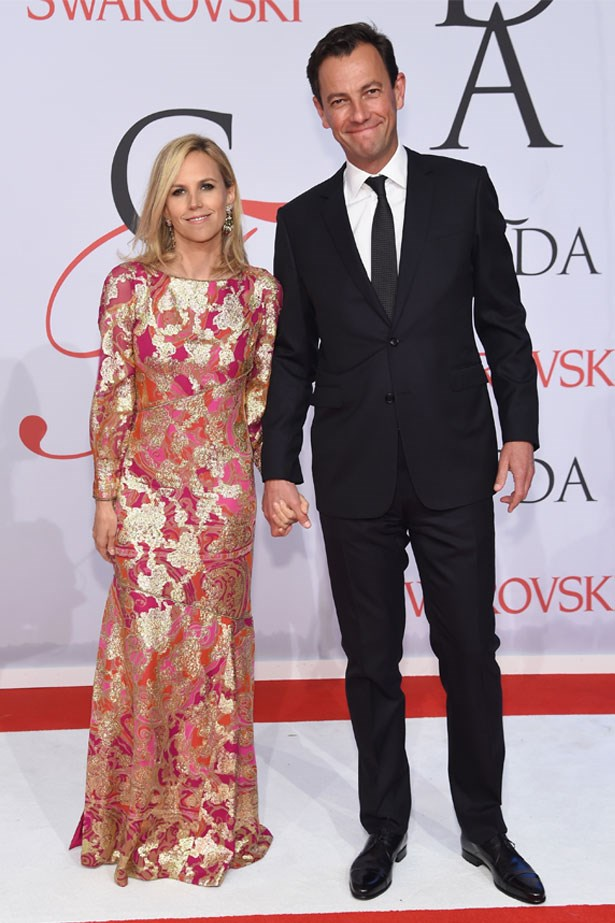<strong>Tory Burch and Pierre-Yves Roussel</strong> <br><br> Tory Burch took to Instagram to announce the engagement in January.