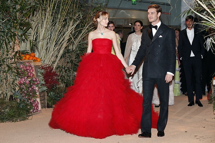 We're in love with Beatrice Borromeo's red Giambattista Valli dress - and her Prince of a husband.