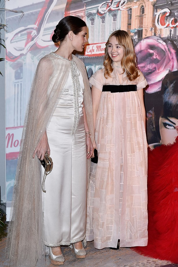 Princess Caroline and her daughter Princess Alexandra also looked glamorous in neutral tones.