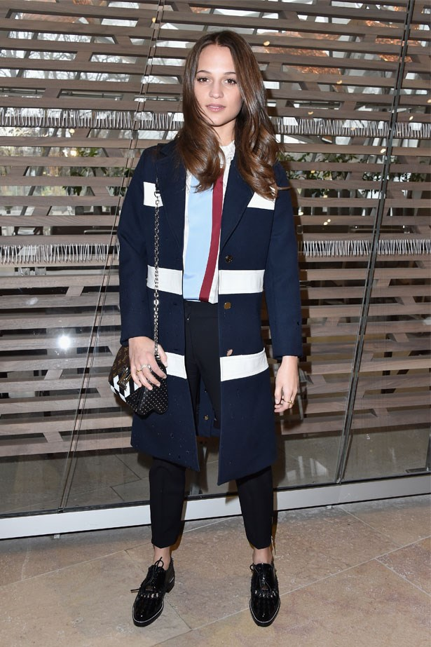 Alicia Vikander at the Louis Vuitton AW16/17 show in Paris, March 2016