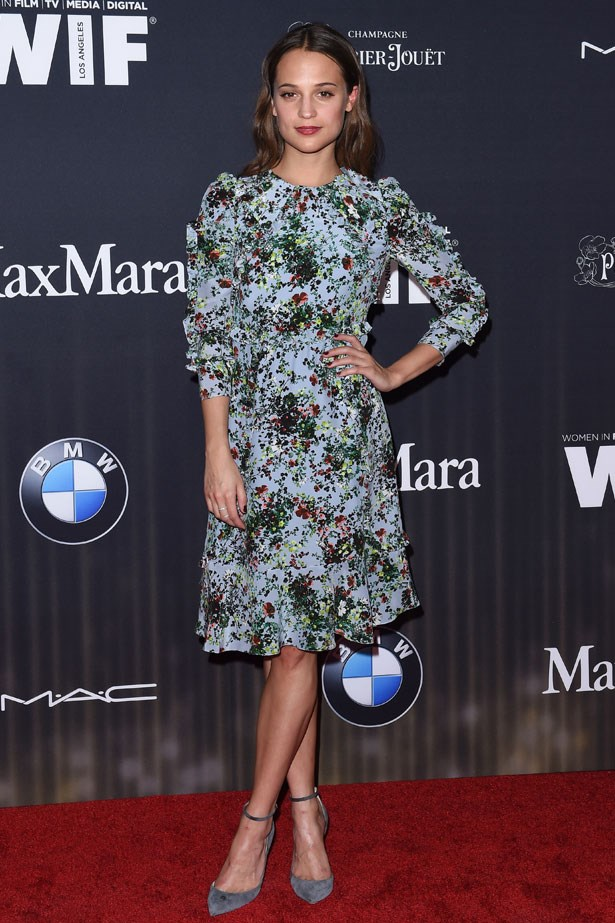 Alicia Vikander at the Ninth Annual Women In Film Pre-Oscar Cocktail Party, February 2016