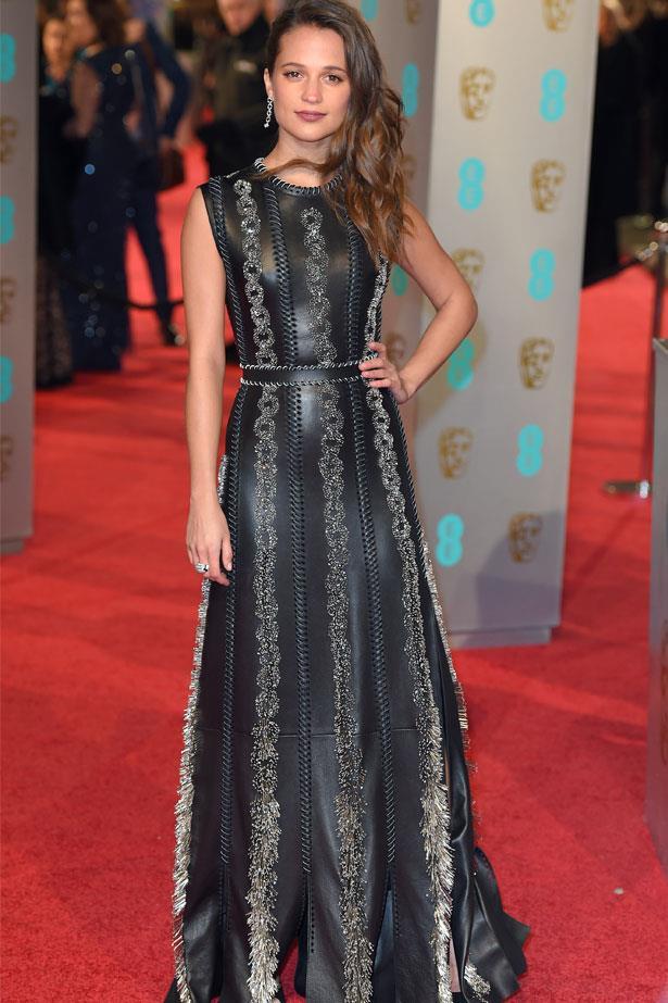 Alicia Vikander at the BAFTAs, February 2016