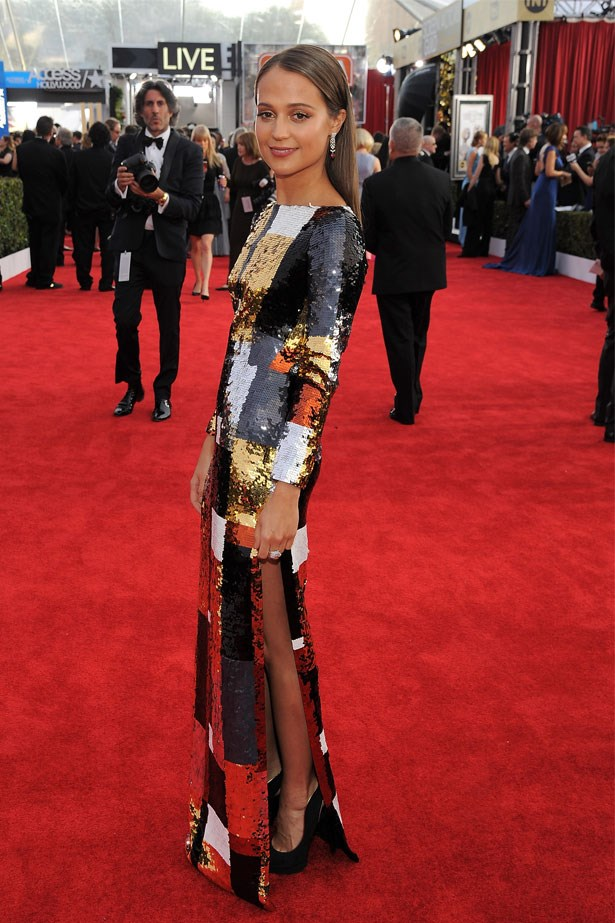 Alicia Vikander at the 22nd Annual Screen Actors Guild Awards, January 2016