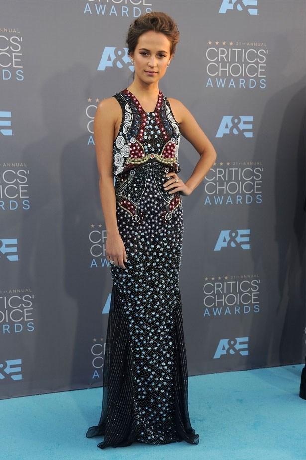 Alicia Vikander at the 21st Annual Critics' Choice Awards, January 2016