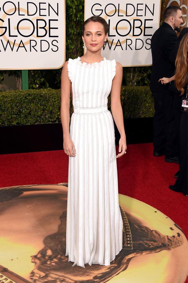 Alicia Vikander at the 73rd Annual Golden Globe Awards, January 2016