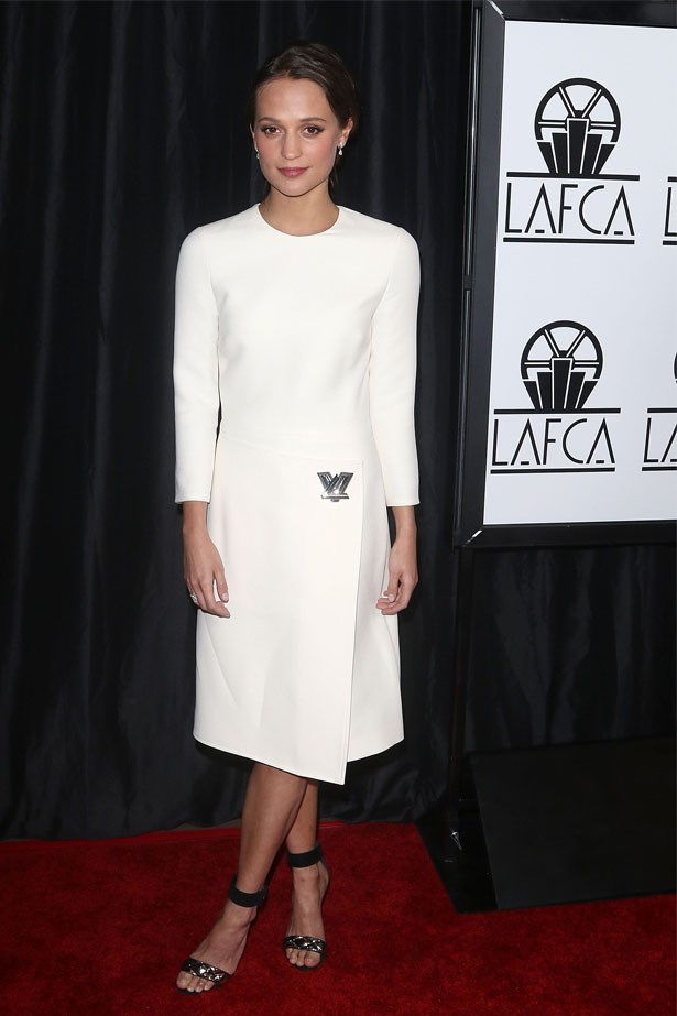 Alicia Vikander at the 40th Annual Los Angeles Film Critics Association Awards, January 2016