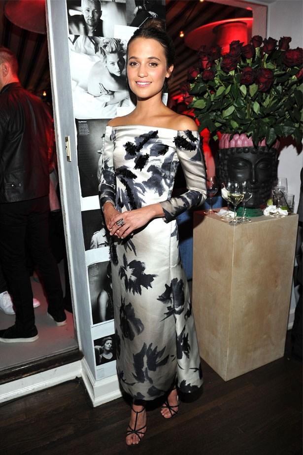 Alicia Vikander attends the W Magazine celebration of the 'Best Performances' Portfolio, January 2016