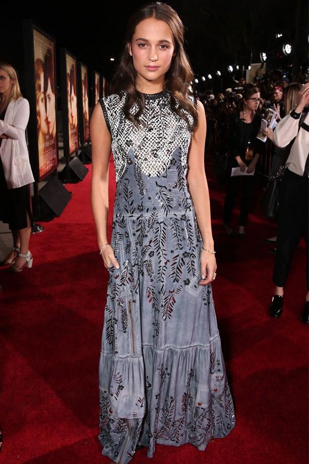 Alicia Vikander attends the premiere of Focus Features' <em>The Danish Girl</em>, November 2015