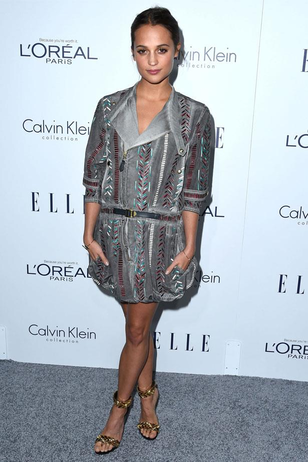 Alicia Vikander attends the 22nd Annual ELLE Women In Hollywood Awards, October 2015