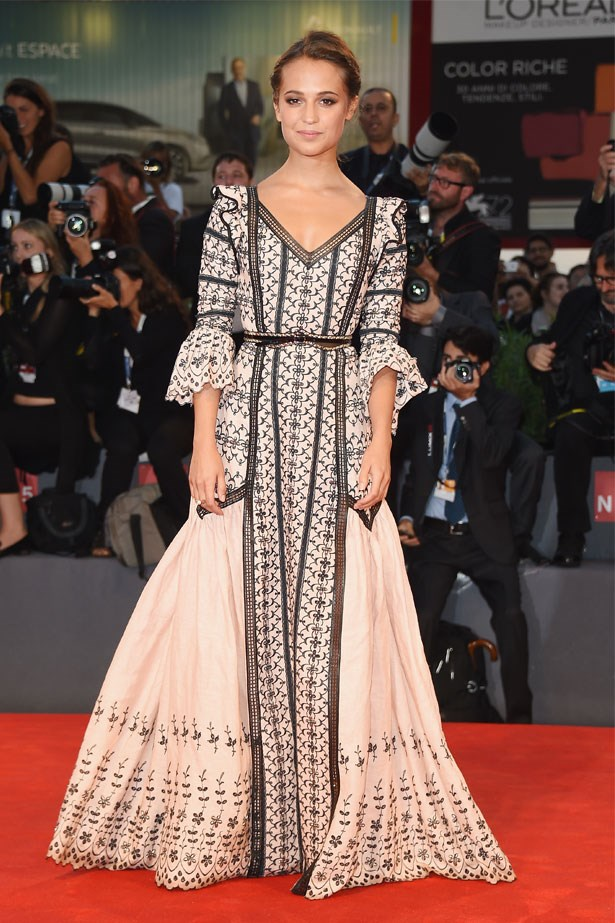 Alicia Vikander attends the premiere of <em>The Danish Girl</em> at the 72nd Venice Film Festival, September 2015