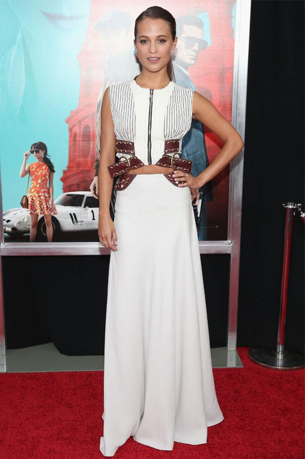 Alicia Vikander attends the New York premiere of <em>The Man From U.N.C.L.E.</em>, August 2015