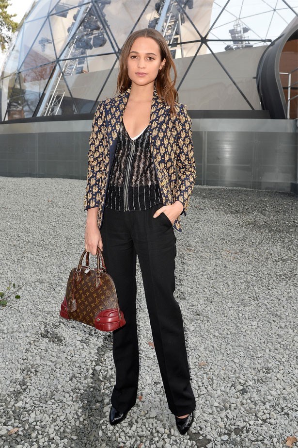 Alicia Vikander at the Louis Vuitton AW15/16 show in Paris, March 2015