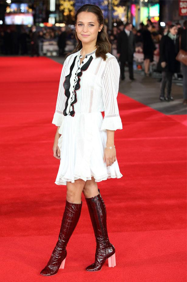 Alicia Vikander at the UK premiere of <em>Testament Of Youth</em>, January 2015
