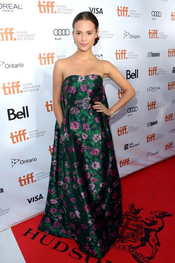 Alicia Vikander attends the premiere of <em>The Fifth Estate</em> at the 2013 Toronto International Film Festival, September 2013