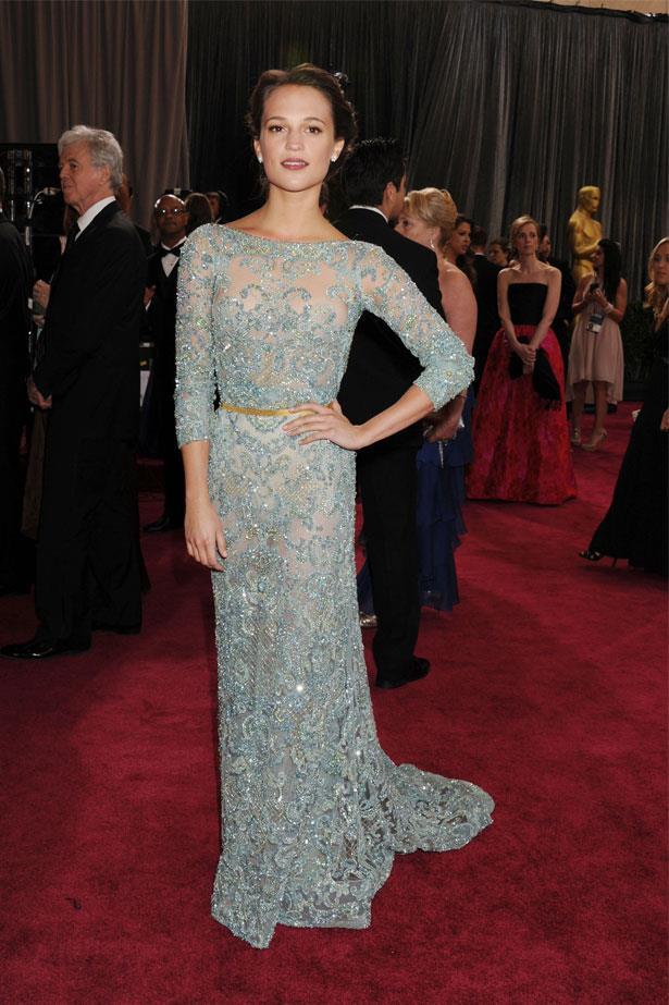 Alicia Vikander at the 85th Annual Academy Awards, February 2013