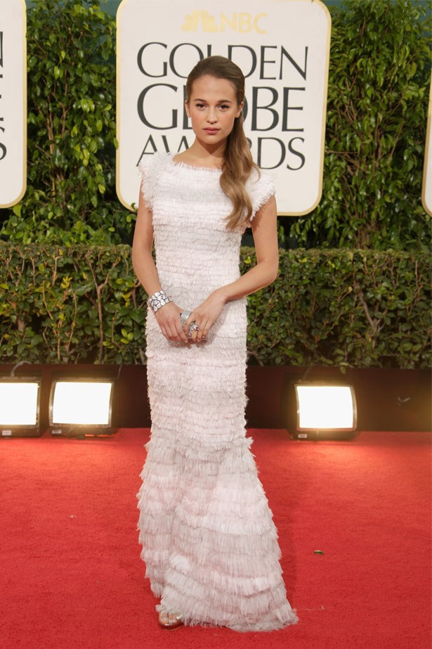 Alicia Vikander at the 70th Annual Golden Globe Awards, January 2013